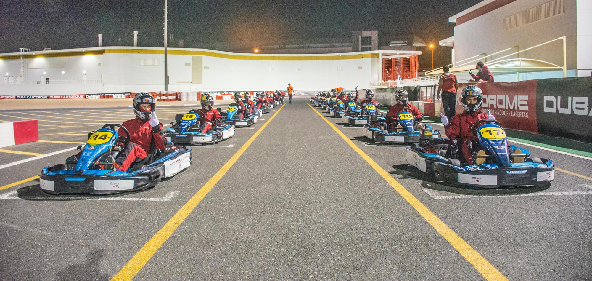 Outdoor Kartdrome in Dubai on Wednesday 9th November