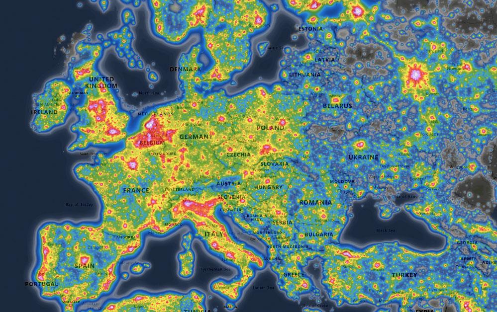 The last black skies of Europe