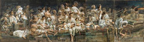 EXODUS, il ciclo pittorico di di Safet Zec in mostra a Roma